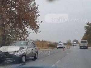 Две коли се помляха край Пазарджик СНИМКИ