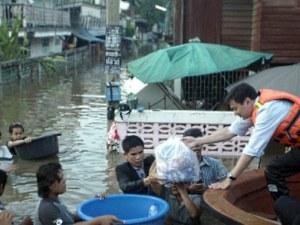 32 545 семейства са засегнати от наводненията в Тайланд