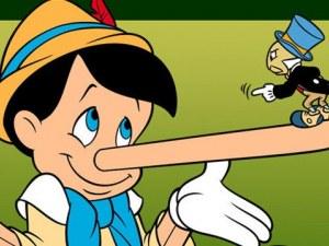 Носът на Пинокио трябва да се скъси! При лъжа той не расте, а се свива!