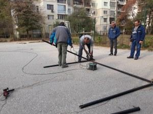 Обновяват спортните площадки в Кършияка СНИМКИ