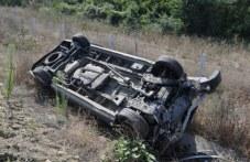 Крадец задигна пловдивски автомобил, преобърна го по таван в дере и избяга