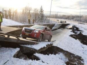 Извънредно положение в Аляска след труса от 7 по Рихтер СНИМКИ