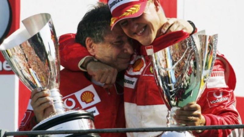 Шумахер изгледал състезанието от Формула 1 в Бразилия