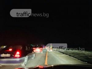 Огромни тапи задръстиха шосето за Асеновград СНИМКИ