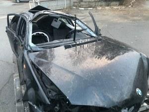 Това е останало от BMW-то, в което загинаха трима СНИМКИ