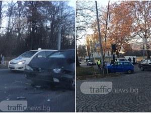 Двете катастрофи в Пловдив тази сутрин са станали заради отнето предимство