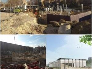 Монтират конструкцията на най-значимия нов културен обект в Пловдив СНИМКИ