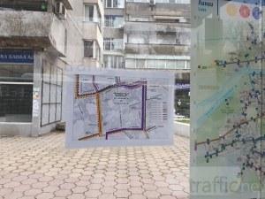 Разлепиха схеми на блокадата в центъра на Пловдив, разбирате ли автобусните рокади? СНИМКИ