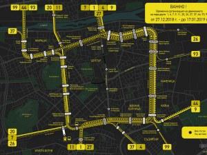 Вече и за хора с проблемно зрение: разбираема схема на блокадата в Пловдив