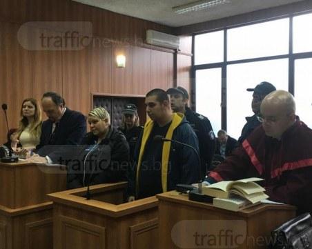 Майката и синът, убили пловдивчанин, запазиха мълчание на влизане в съда СНИМКИ