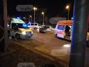 Меле между две коли на пловдивски булевард, дете е откарано с линейка СНИМКИ