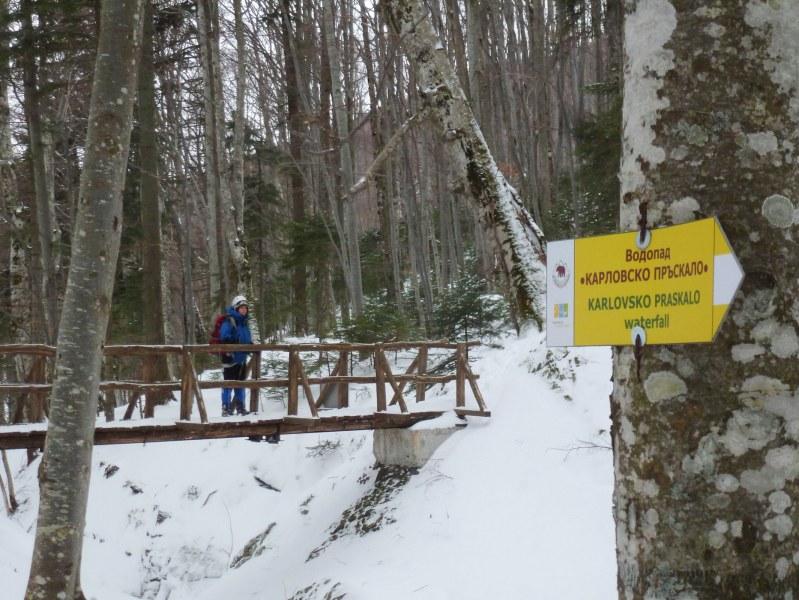 Да се разходиш през зимата до водопад Карловското пръскало СНИМКИ