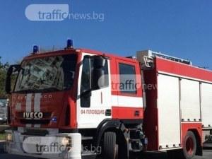 Пожар край Пловдив изпепели постройка, стопанисвана от 64-годишен мъж
