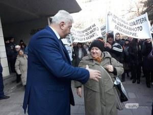 Зико към протестиращите: Зад вас съм! Ще предам исканията ви лично на Бойко Борисов СНИМКИ и ВИДЕО