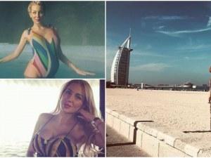 Последният месец от бременността си Антония Петрова прекарва в Дубай СНИМКИ