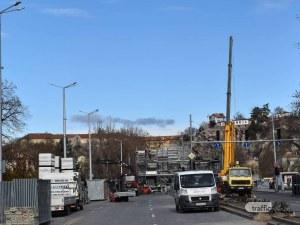 Демонтирането на кулaта в центъра на Пловдив – на финален етап СНИМКИ