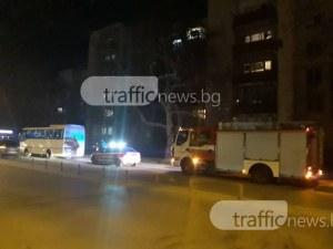 Такси засече пътя на автобус в Пловдив, качи го на островче и избяга СНИМКИ