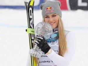 Легендарна скиорка падна лошо в последното си състезание ВИДЕО