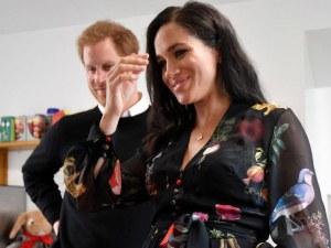 Трогателно! Всички видяха как шава бебето на принц Хари и Меган ВИДЕО