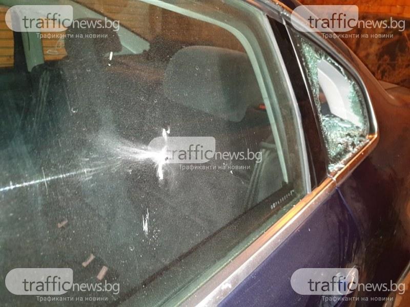 Апаши атакуват коли в Пловдив, разбиха три на две съседни улици СНИМКИ