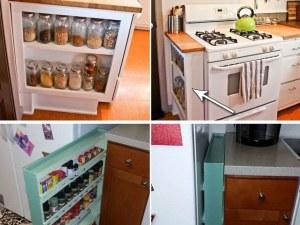 Как да оползотворите страницата на шкафовете в кухнята? СНИМКИ