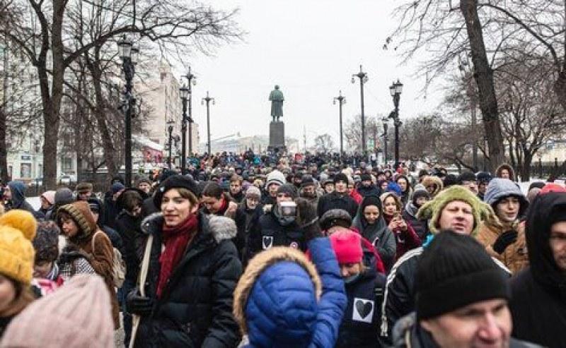 Хиляди се събраха на протести в Русия