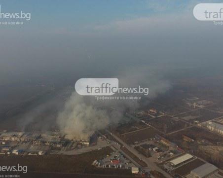 Правят мониторинг на въздуха около изгорелия цех за месо край Войводиново