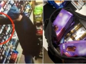 Крадец задигна цял сак с шоколади от магазин в София! Това не е първата му кражба