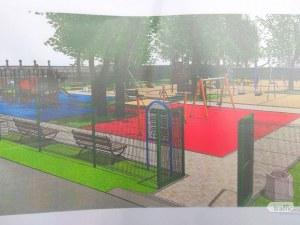 Правят най-голямата детска площадка в парк