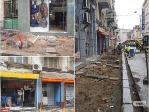 Търговци от разкопаната улица в центъра на Пловдив: Колеги затварят обекти, оборотът пада СНИМКИ и ВИДЕО