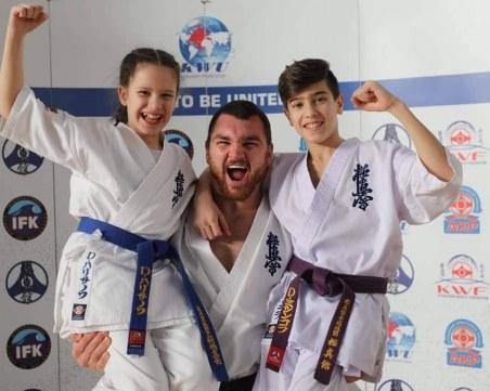 Пловдивчани с две титли от държавното по карате киокушин за деца СНИМКИ