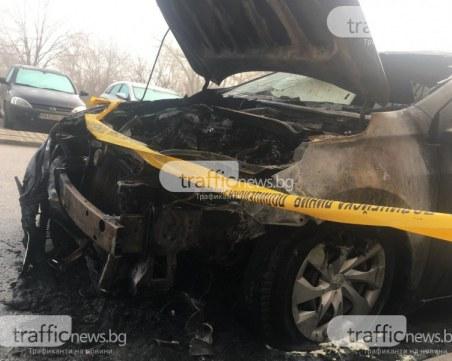 Пожар в Тракия! Три коли горяха на паркинг
