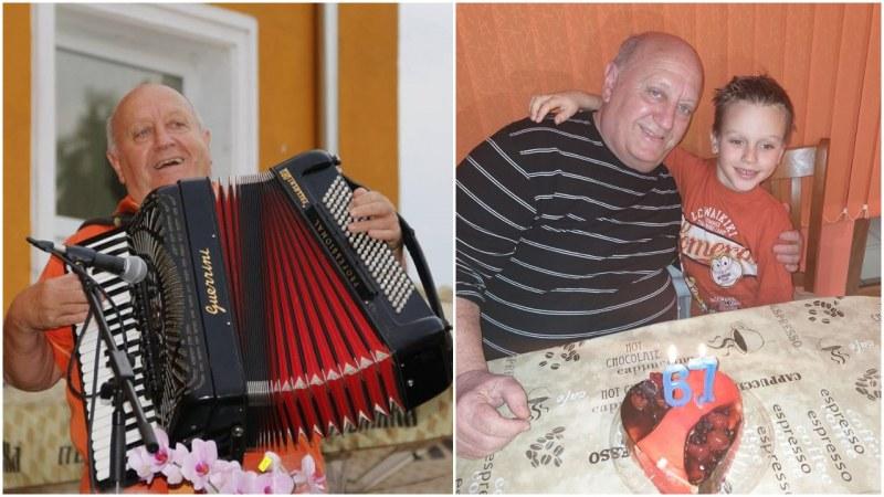 Благой Манчев от Конушенския оркестър стана на 67 години ВИДЕО+СНИМКИ