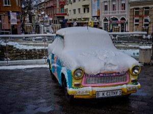 Зимата и снегът прегърнаха Пловдив СНИМКИ