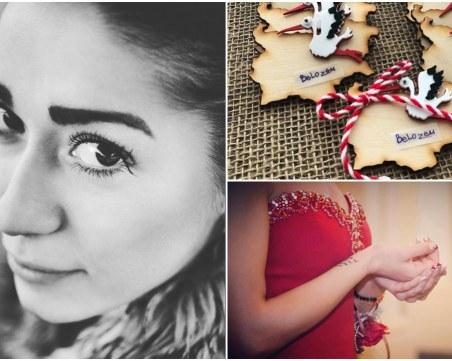 Красиви и работливи: 25-годишно момиче твори удивителни етномартеници и… шие сама роклите си СНИМКИ