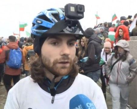 Млад българин стигна от Берлин до Шипка с колело