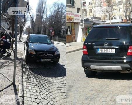 Пловдивчанка с лъскаво возило спря на пътя на майки с колички, те – обикалят СНИМКИ