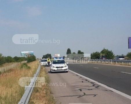 Пикап и такси се блъснаха на АМ Тракия край Пловдив