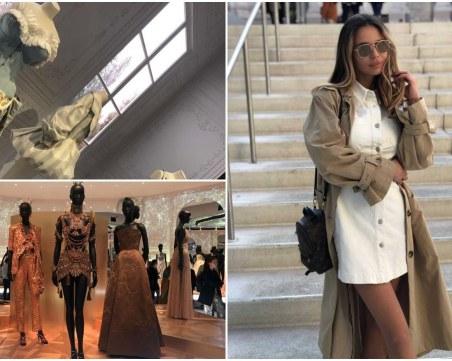 Модна блогърка от Пловдив се докосна до изложбата
