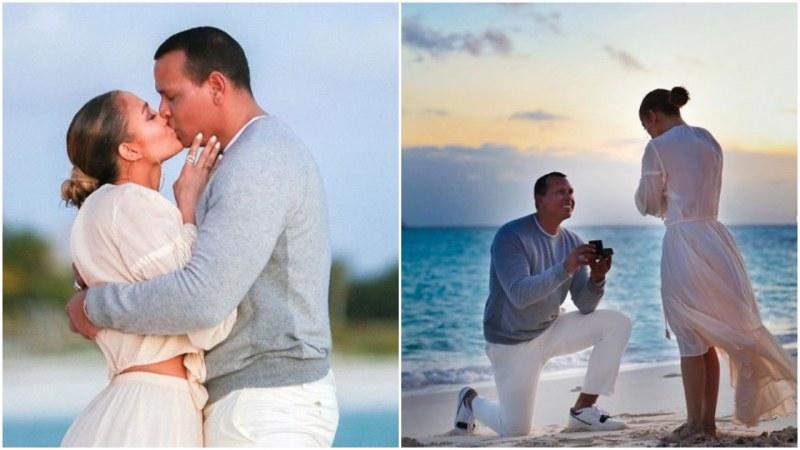 Джей Ло показа снимки от предложението за брак