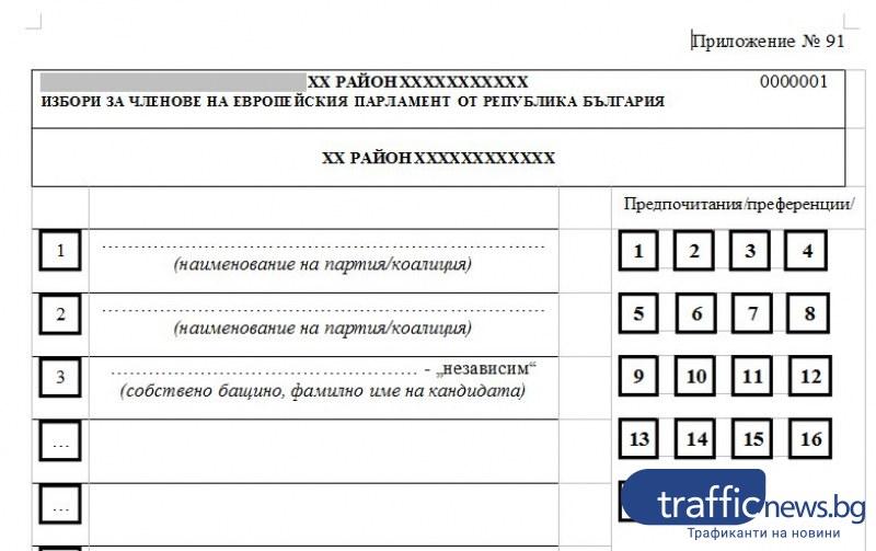 TrafficNews изготви примерна бюлетина. Как ще гласуваме на евровота?