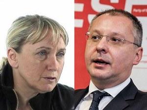 Йончева и Станишев в опит да умиротворят БСП