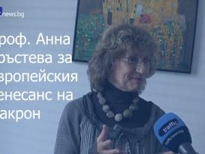 Политологът проф. Анна Кръстева: Макрон говори на цяла Европа! ВИДЕО
