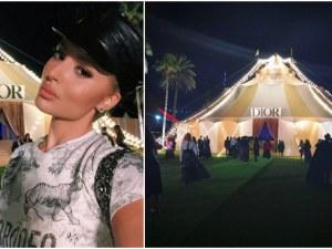 Цвети Янева на блестяща нощ в Дубай, докато Диор показва своята висша мода ВИДЕО и СНИМКИ