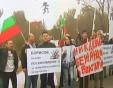 Жители на Малко Търново на протест срещу мигрантски лагер