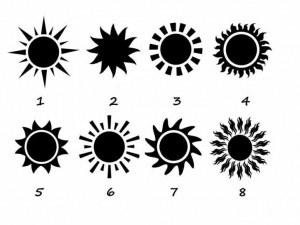 Изберете слънцето, за да разкриете тайните черти на вашия характер