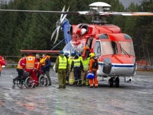 Заснеха от въздуха спасяването на пасажерите от круизния кораб в Норвегия ВИДЕО