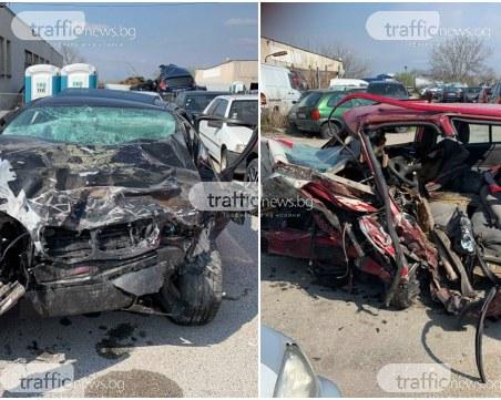 Водачът, причинил катастрофата с 4-ма загинали край Пловдив, е без опасност за живота СНИМКИ и ВИДЕО