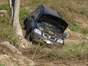 Шофьорка излетя с кола от пътя в Кресненското дефиле СНИМКИ