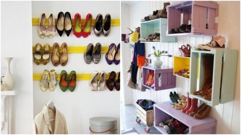 Хитри идеи за шкафове за обувки СНИМКИ